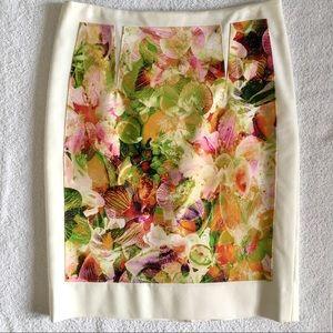 Club Monaco Floral Print Skirt